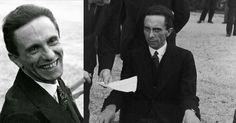 Il ministro della propaganda Nazista Joseph Goebbels era allegro e spensierato quando incontrò il fotografo Alfred Eisenstaedt. In un primo piano naturale si osserva l'uomo ridere di fronte alla macch