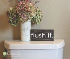 flush it. Mini Block Wood Sign - Home Decor - Christmas Wood Sign - Wooden Signs - Wall Art - Sayings - Funny Quotes - Small MiniBlock by thestickerhut on Etsy Wood Bathroom, Bathroom Humor, Bathroom Signs, Bathroom Ideas, Simple Bathroom, Lego Bathroom, Shower Ideas, Bathroom Quotes, Bathroom Images