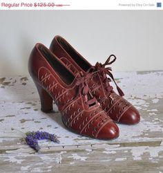 1930s burgundy plume Rag Time swing dancing shoes