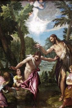 The baptism of Christ by Veronese