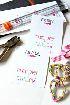 Get creative on V-Day with these rubber band bracelets Valentine cards.  Not sure how to do one? Check out our video tutorial on how to make your own rubber band bracelet here: http://www.youtube.com/watch?v=P5kV0StaqLo