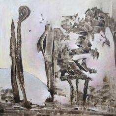 Oude werelden, schilderij van Gerda Kwakkel .. Kunst / Abstract / Modern / Schilderij