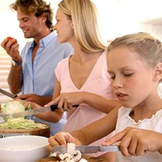 family cooking dinner -  #PastaFitsMe
