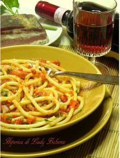 Italian food - Bucatini all'amatriciana