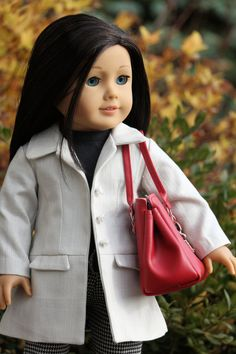 Unique coat outfit for American Girl dolls by NoodleClothing www.etsy.com/listing/210533381/american-girl-doll-clothing-white-jacket