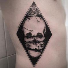 Landscape skull by Balazs Bercsenyi