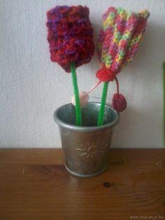Horgolt tulipán - Horgolás - Március 8.- Nemzetközi Nőnap - virág