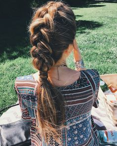Messy dutch braid by Nichole Ciotti