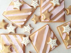 Gold stripe presents with gold stars