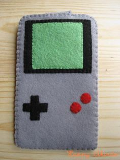 GameBoy Nintendo felt phone case with velcro by HappyAkindo, $16.00