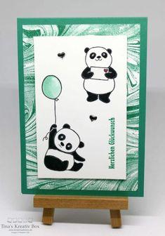 Grußkarte mit Pandas - mit Produkten von Stampin' Up!