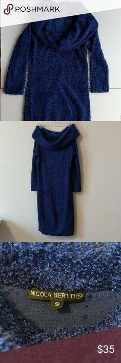 Nicola Bertti Long Sleeve Dress in blue Nicola Bertti Long Sleeve Dress Nicola Bertti Dresses