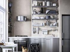 Credence cuisine inox miroir poli modele round25 miroir mosaique acier effe - Ikea cuisine accessoires muraux ...