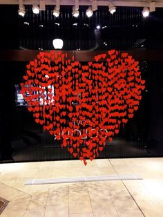 Banana Republic's valentine window display printed, cut and threaded by the crafty Harlequin team with Harlequin Design http://ow.ly/mnTfJ