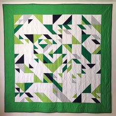 love the greens in this and just the random geometric design.