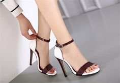 38.43$ Watch here - http://alipfw.shopchina.info/go.php?t=32792698617 - 2017 Fashion Nude Suede Sexy High Heels Sandals Women Genuine Leather Ankle Strap Sandals Dress Wedding Shoes Open Toe Sandals #buyininternet