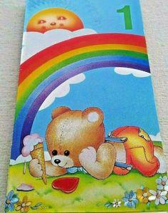 Baby 1st Birthday Boy//Girl Teddy Bear on Rocking Horse Birthday Banner NIP