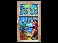 JRENEE Reverse Glass Art