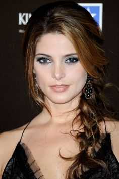 We love Ashley Greene's side braid! To offset a more dramatic smoky eye, frame your face with a sweeping fringe and a loose, pancaked braid that will keep your date night ensemble from looking overly fussy.