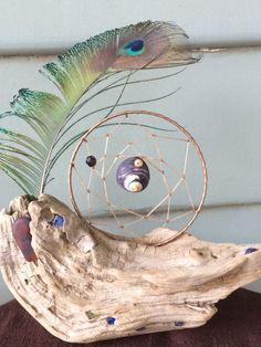Handmade Believe Drift Wood Dream Catcher Art by DreamRaes on Etsy