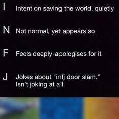 Image result for infj door slam