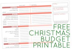 6 Steps to a Relaxed Christmas: create your holiday budget