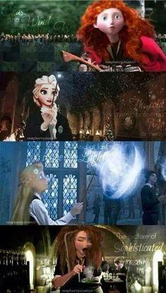 #DisneyPrincesses as #HogwartsStudents #DisneyPotter