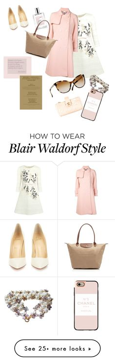 """""""Happily after me"""" by waldorfgirl on Polyvore featuring Giambattista Valli, Thom Browne, philosophy, Longchamp, Christian Louboutin, Chanel, Casetify, women's clothing, women and female"""