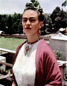 Frida Kahlo - surreal, indigenous, Mexican artist, married to Diago Rivera and suffered huge health problems all her life, but continued to express purist positivity and love for life.