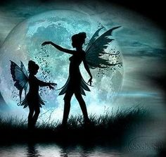 fairies playing in the moonlight....