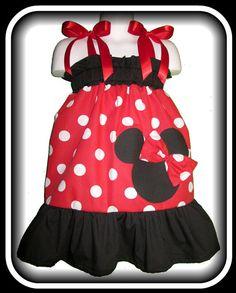 Minnie Mouse Smocked Dress - $25