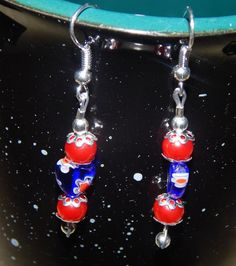 Check out this item in my Etsy shop https://www.etsy.com/listing/248795693/red-white-and-blue-earrings