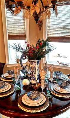 My favorite tablescape includes this blue and white chinoserie vase!