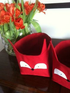 Adorable fox fabric storage by Hibu Geneve Fox Fabric, Fabric Storage, Longchamp, Designers, Tote Bag, Handmade, Bags, Shoes, Fashion