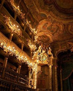 """clara–lux: """"GALLI BIBIENA, Giuseppe (architecture) Interior of the Margravial Opera House Bayreuth, Germany Ed. by Pierre Schoberth) Lic. Architecture Baroque, Beautiful Architecture, Beautiful Buildings, Architecture Design, Beautiful Places, Bayreuth Germany, Aesthetic Pictures, Aesthetic Wallpapers, Opera House"""
