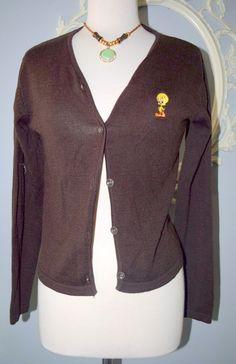 Vintage Bronze Sequin sweater Knit Cardigan Sweater top 70's Disco ...