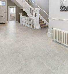 Porcelain floor tiles that look like limestone - perfect for hallway flooring from Artisans of Devizes.