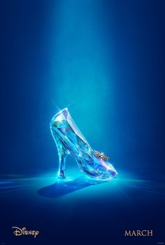 Cate Blanchett's Live Action 'Cinderella' Gets Teaser Trailer & Poster!: Photo Check out the brand new poster for the upcoming live action version of Disney's Cinderella! The poster merely featured a lone glass slipper on a plain blue background. Cinderella 2015, Disney Cinderella Movie, Cinderella Party, Disney Dream, Disney Love, Cinderella Slipper, Cinderella Quotes, Hayley Atwell Cinderella, Download Cinderella