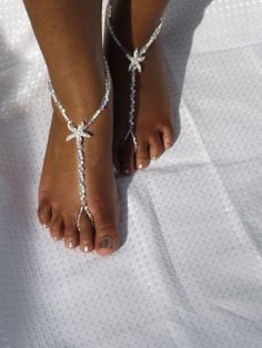 Bridal Jewelry Barefoot Sandals Wedding Foot by SubtleExpressions