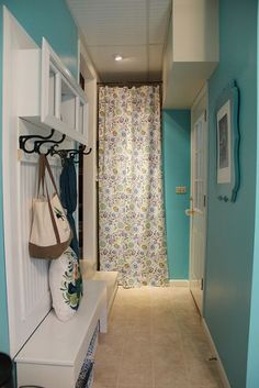 Happy Aqua Blue Laundry Room Makeover