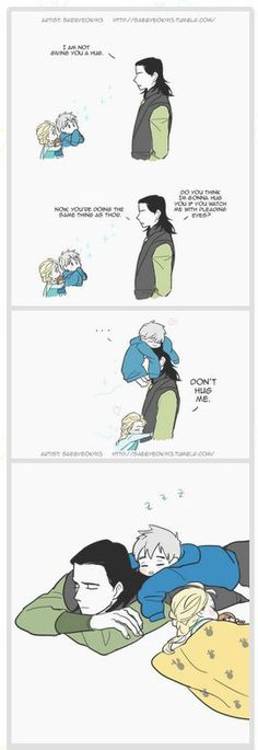 Loki and kids Elsa and Jack