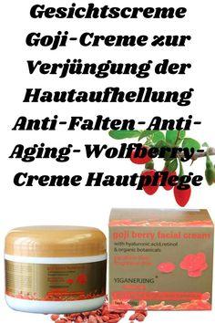 Die darin enthaltene Goji-Creme hat krebspräventive Eigenschaften, die dazu beitragen, die Haut wiederherzustellen und glatt, gesättigt und zart zu halten. Die im Bioprodukt enthaltenen Alpha-Hydroxysäuren unterstützen das Peeling der Haut. Es ist wertvoll bei der Behandlung von Hautausbrüchen und Hautunreinheiten. Anti Aging, Berry, Facial Cream, Peeling, Cream Cream, Creme, Food, Skin Whitening, Skincare Routine