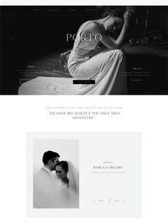 Porto II - Responsive Premium WordPress Themes for Photographers and Creatives by Flothemes. Great Website Design, Website Design Layout, Website Design Inspiration, Web Layout, Layout Design, Website Designs, Ui Design, Layout Inspiration, Graphic Design