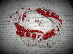 Bridal Necklace Valentine Wedding Bridal Jewelry Red Bridesmaid Jewelry by WildflowersAndGrace