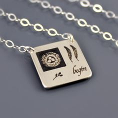 Sterling Silver New Beginnings Necklace by Lisa Hopkins Design