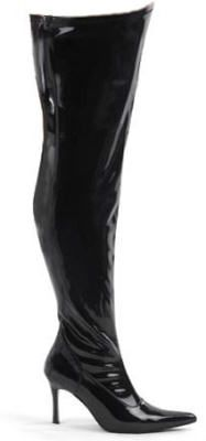 4518a6bf77c Plus Size Wide Width Sexy Black Thigh High Boots - Sexy black patent  thigh-high