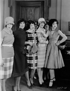 Clara Bow and friends, 1920s
