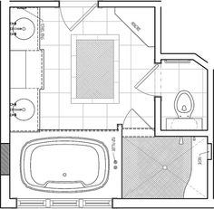 Excellent Bathroom Floor Plans Set