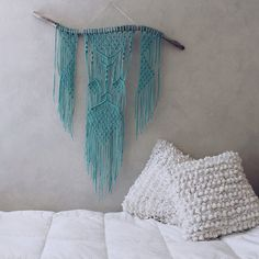 Hey, I found this really awesome Etsy listing at https://www.etsy.com/listing/254731900/turquoise-macrame-wall-hanging-on