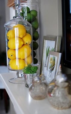 This decoration with lemons is a great-effect low cost idea, I'm going to use it soon!